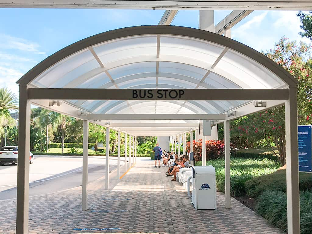 Bus Stop at Disney's Contemporary Resort