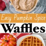 Easy Pumpkin Spice Waffles