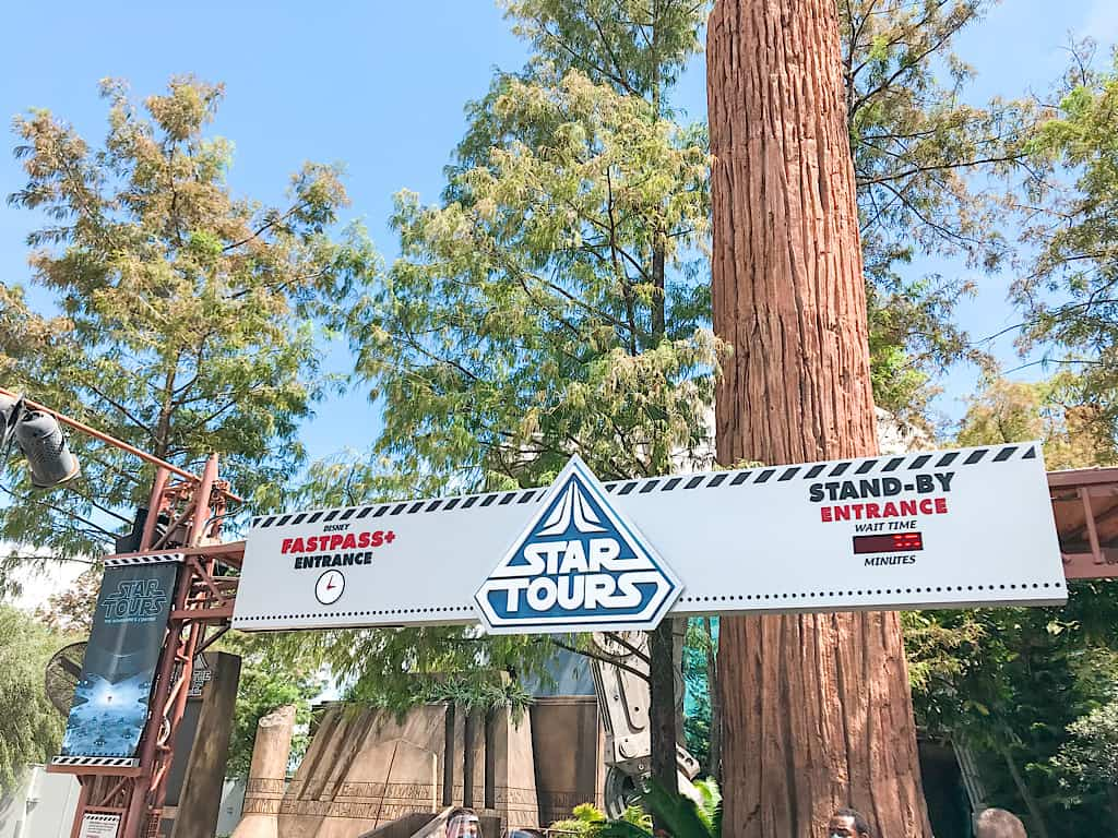 Entrance to Star Tours Adventures Continue