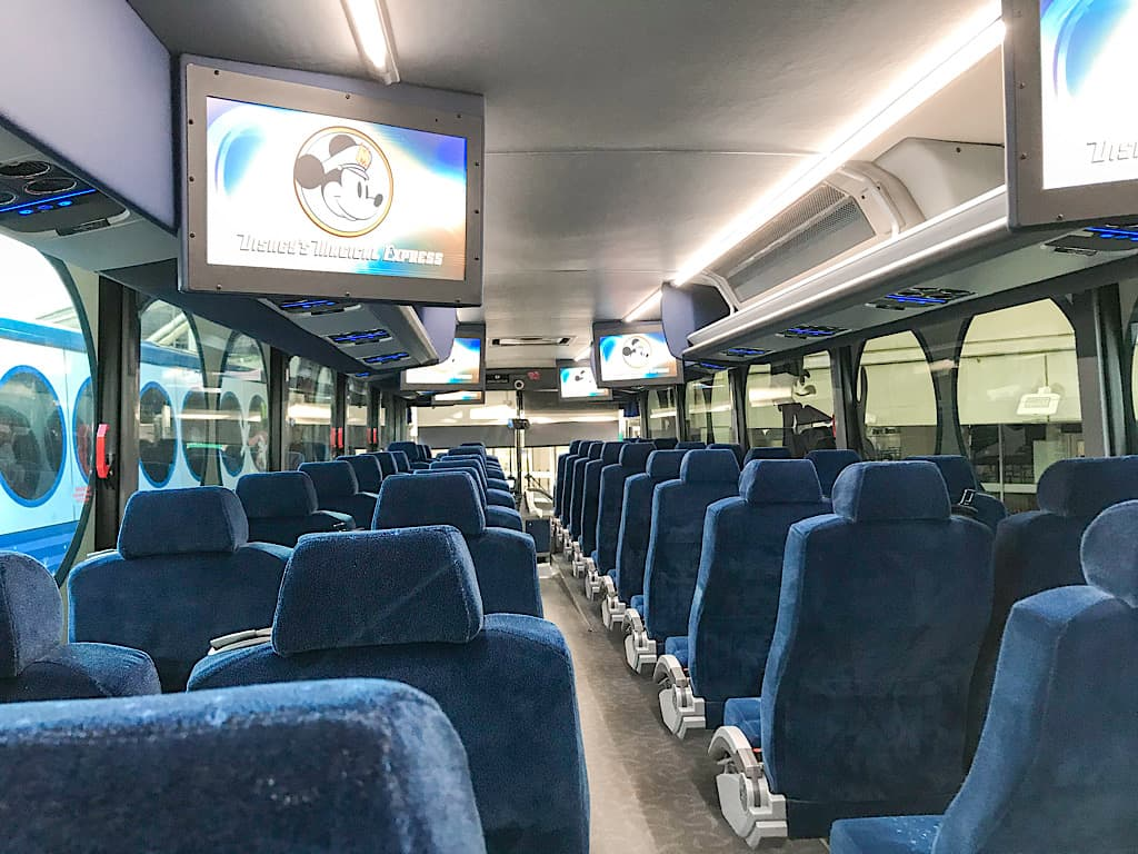 Passenger area of Disney's Magical Express Bus