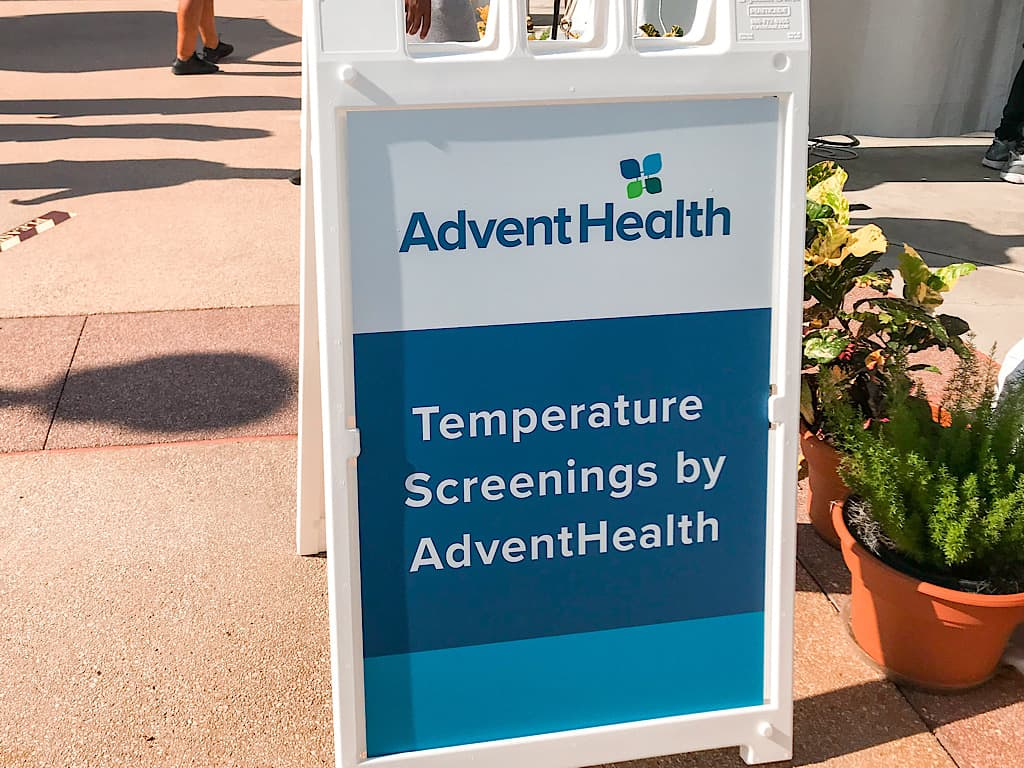 Temperature screening at Disney's Hollywood Studios