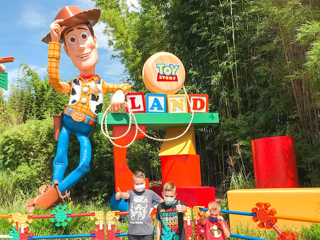Entrance to Toy Story Land at Disney World