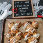 How to Make Mickey Mouse Cinnamon Rolls (the easy way)