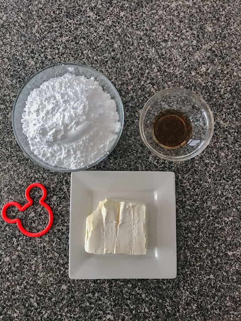 Cream Cheese Glaze Ingredients: 4 Ounces Cream Cheese, softened, 1 1/2 Cups Powdered Sugar, 1 Teaspoon Vanilla Extract, 1-2 Tablespoons Milk, if desired