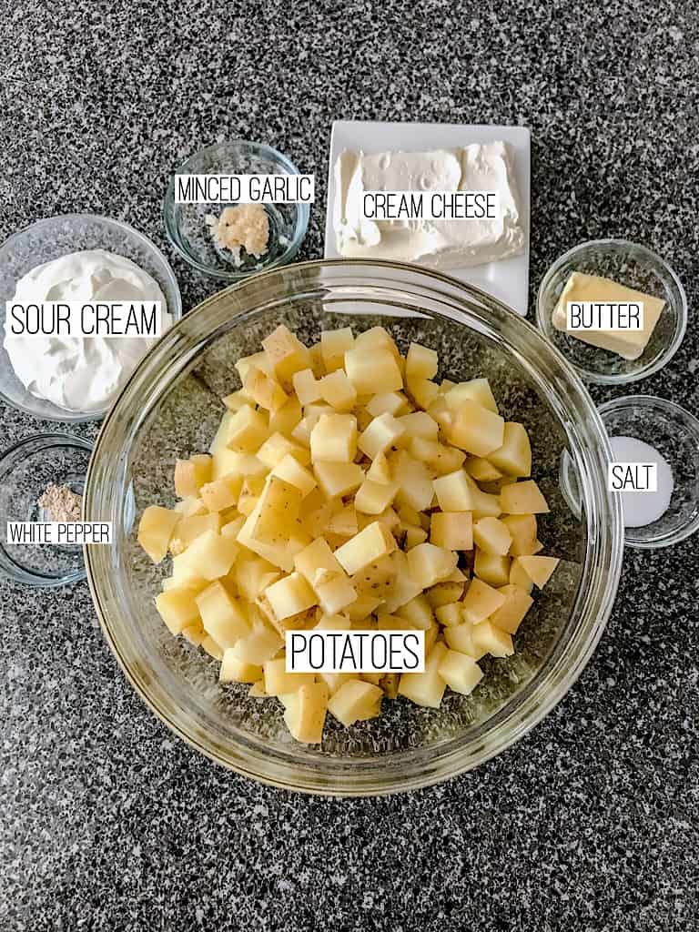 Ingredients for Make Ahead Mashed Potatoes