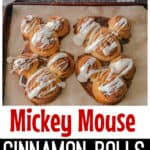 Mickey Mouse Cinnamon Rolls the easy way