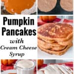 Pumpkin Pancakes with Cream Cheese Syrup