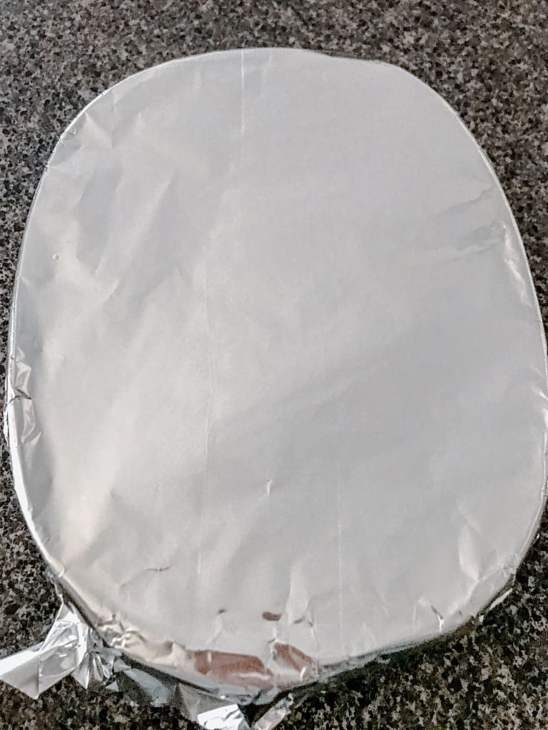 Cover the baking dish with foil and bake at 350 degrees for 55-65 minutes. Let stand 10 minutes before serving.