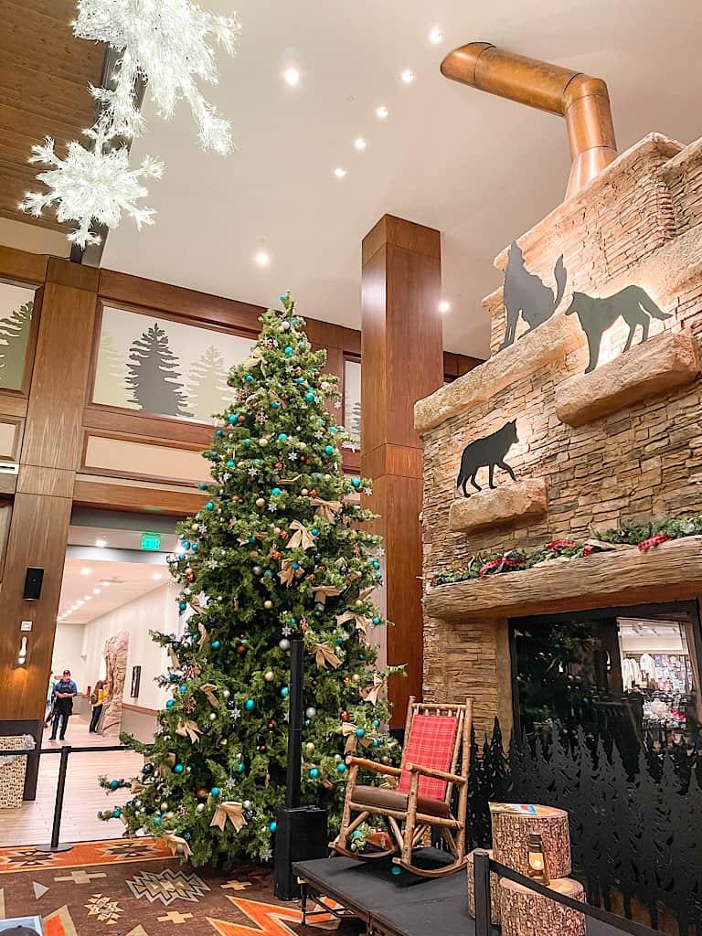 Christmas tree at Great Wolf Lodge Arizona