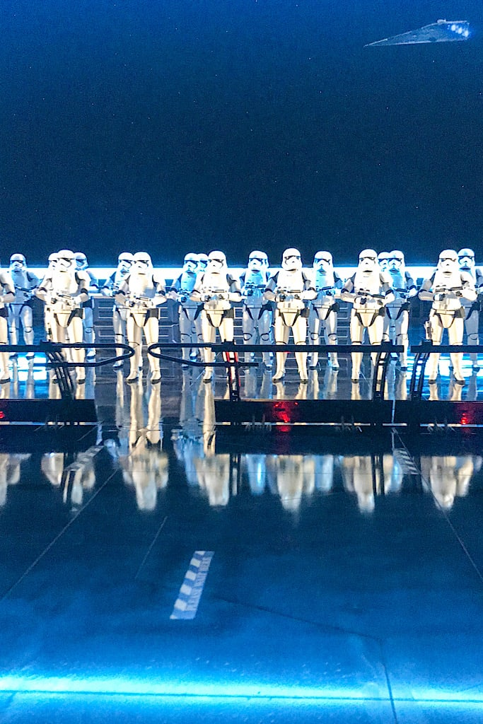 Line of Storm Troopers on Rise of the Resistance