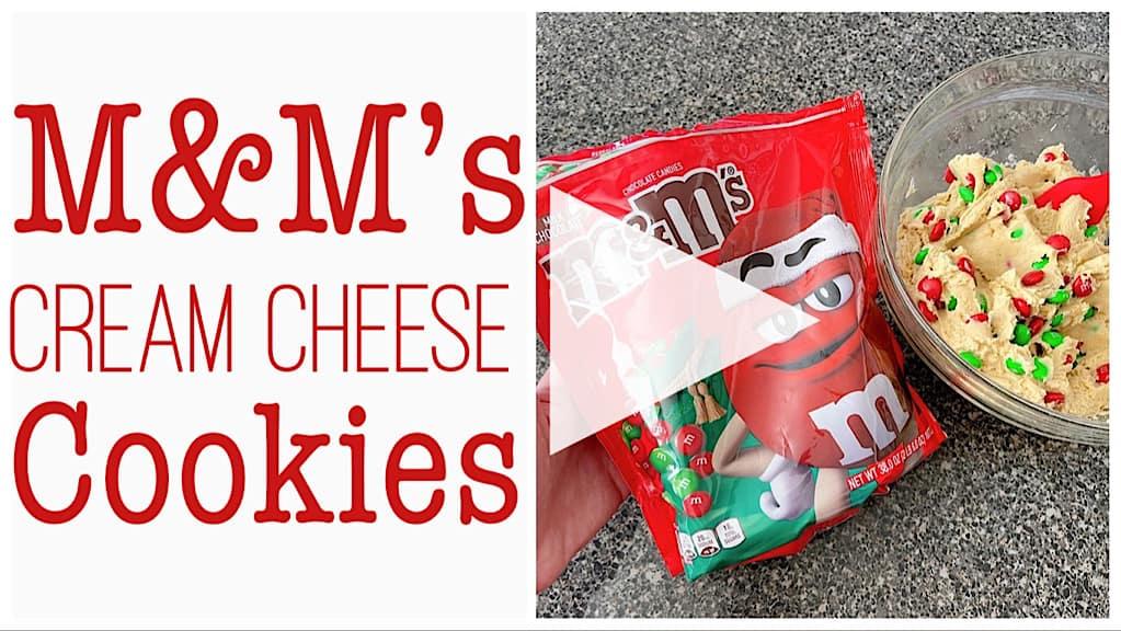 M&M's Cream Cheese Cookies