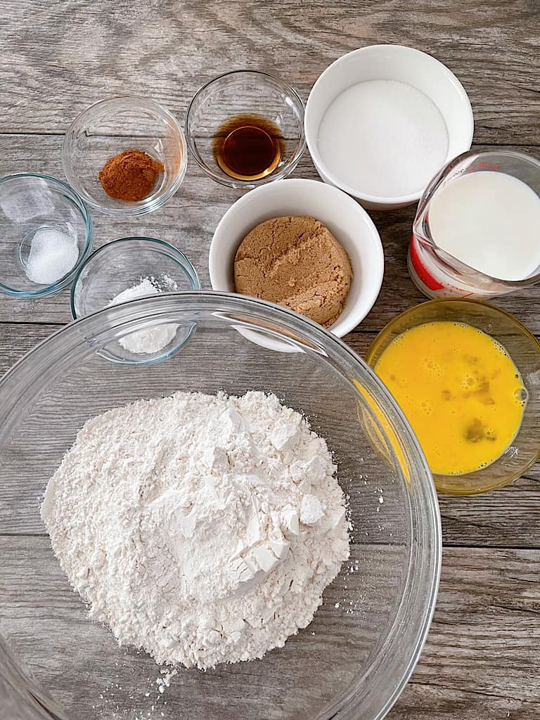Ingredients for Churro Muffins