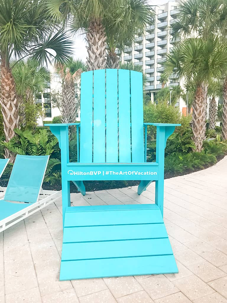 Blue Chair atHilton Lake Buena Vista Palace