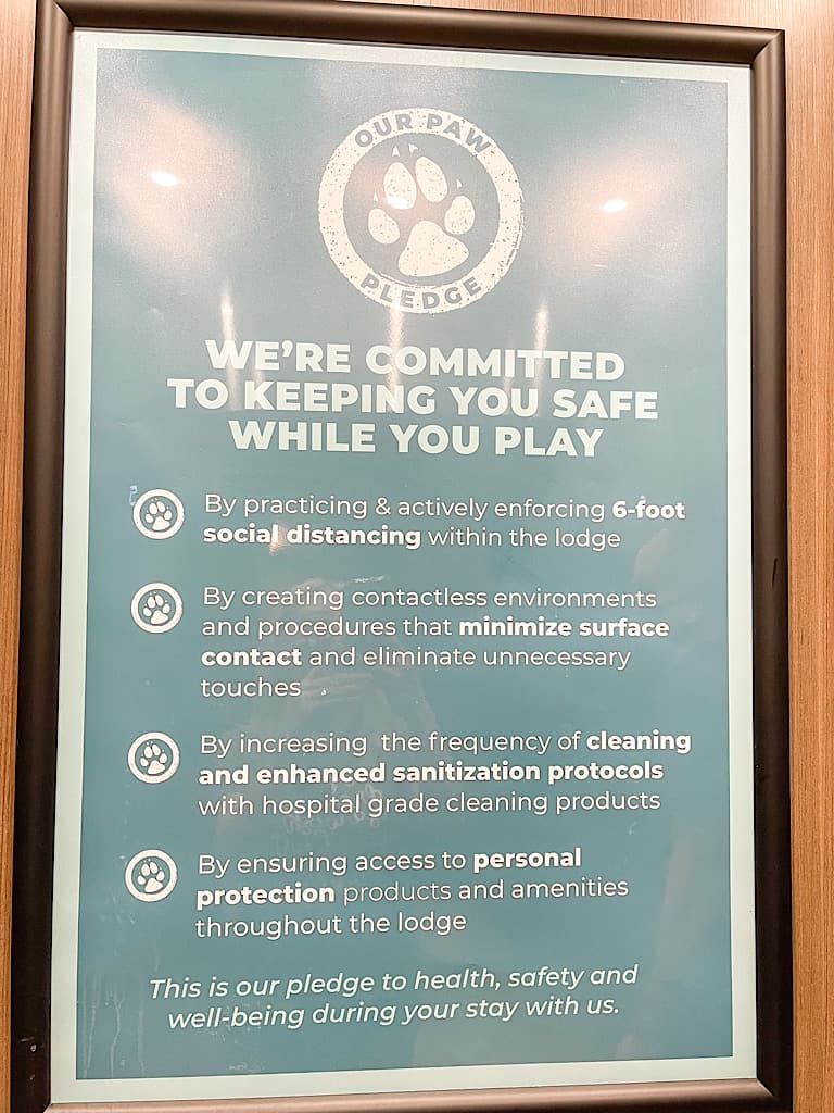 List of COVID safety precautions at Great Wolf Lodge