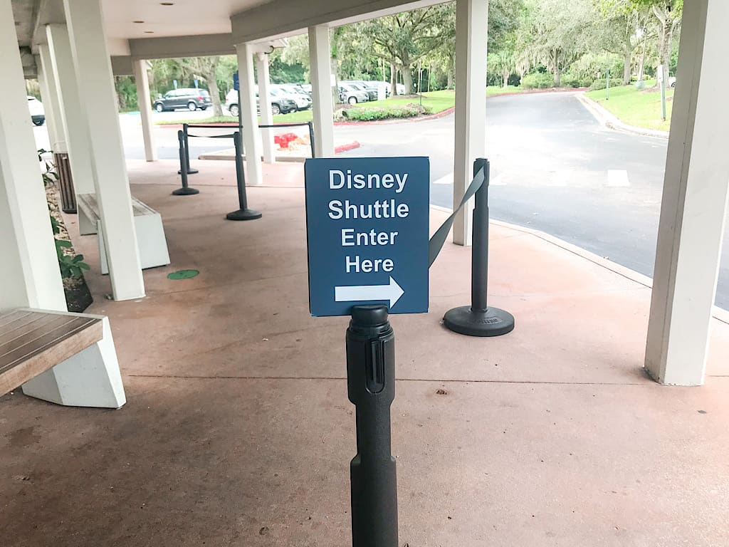 Entrance to shuttle pick up area