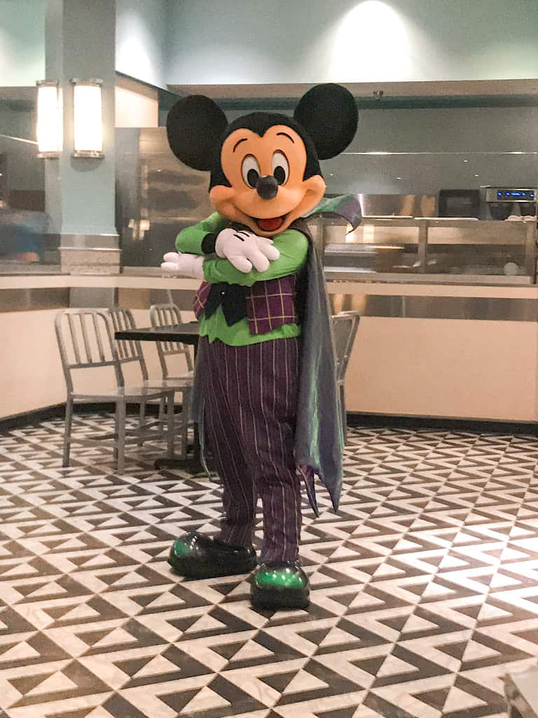 Mickey dressed as a Vampire
