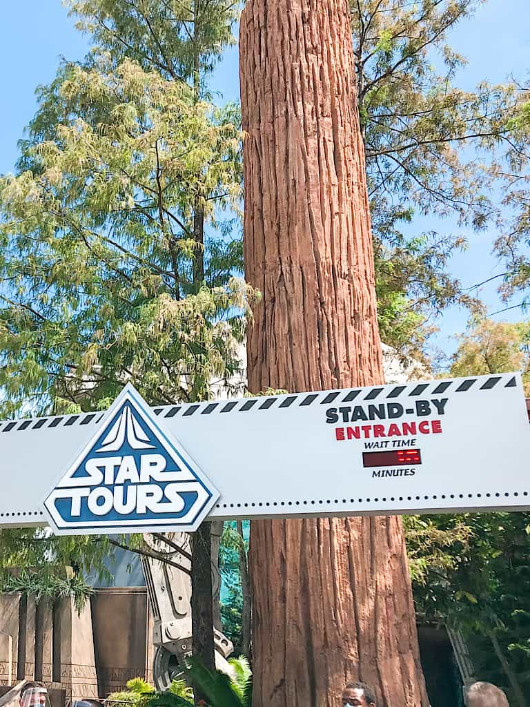 Entrance to Star Tours at Disney World