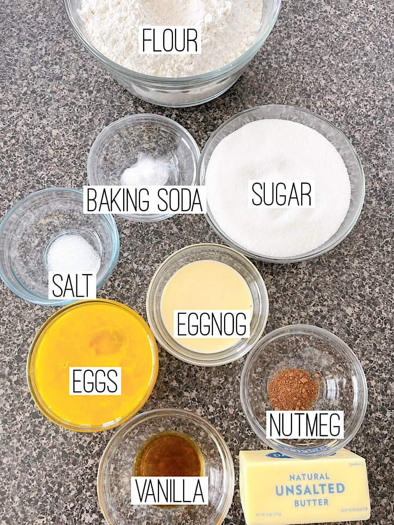 Ingredients for Eggnog Sugar Cookies