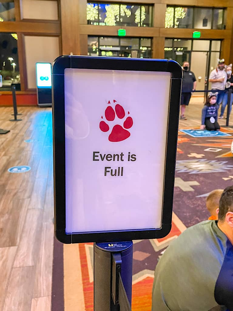 Full event at Great Wolf Lodge