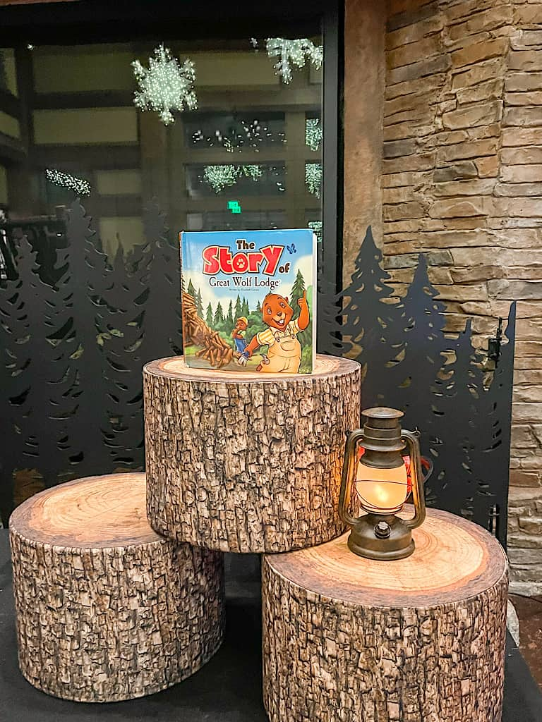 Story time area at Great Wolf Lodge in Arizona