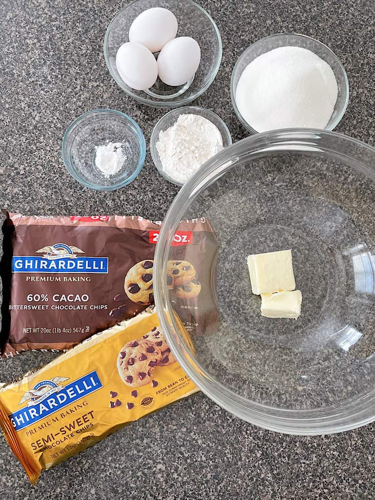 Ingredients for Double Chocolate Cookies