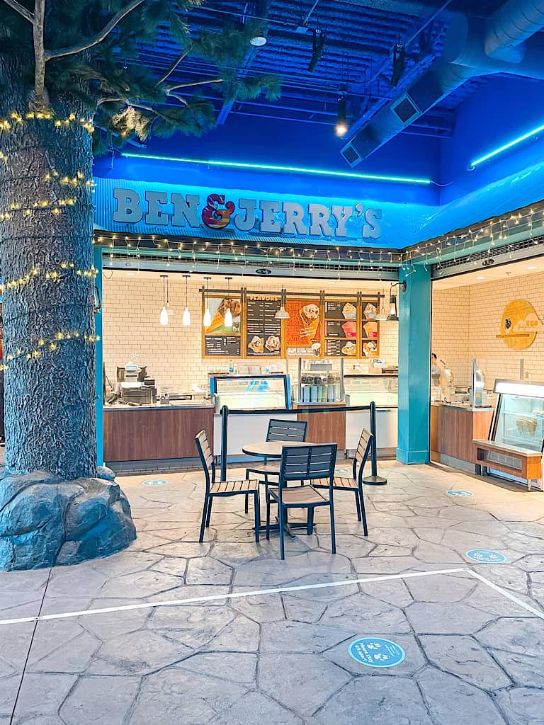 Ben & Jerry's located inside Great Wolf Lodge in Arizona