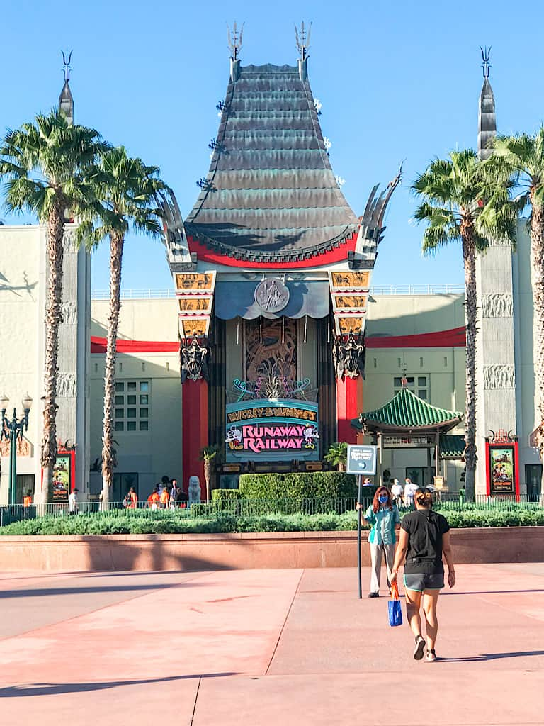 Mickey & Minnie's Runaway Railway Entrance at Disney World