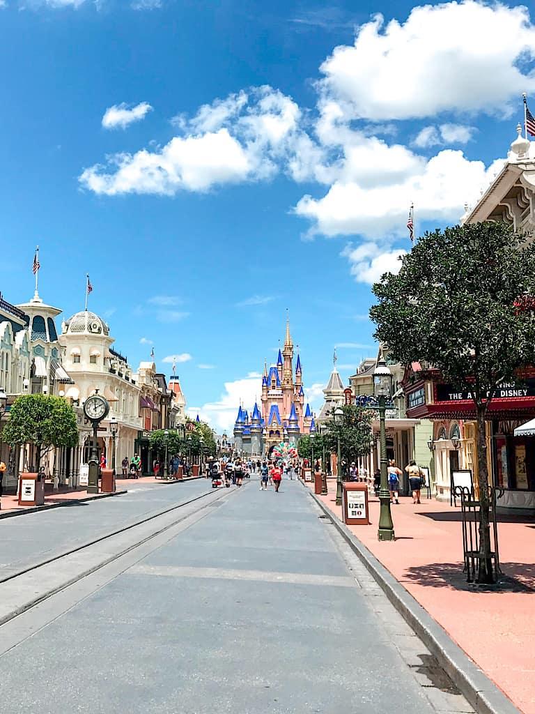 Empty Main Street USA at Disney World