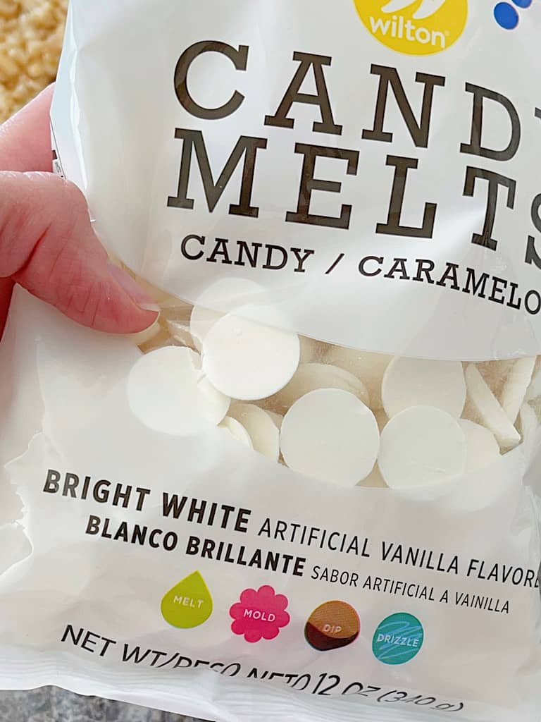 A bag of Wilton Bright White Candy Melts.