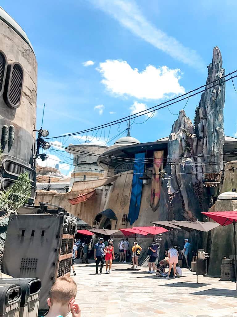 A scene from Star Wars land at Hollywood Studios at Disney World.