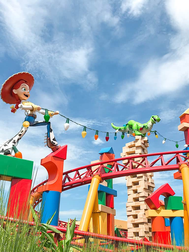 A picture of Slinky Dog Dash in Toy Story Land.