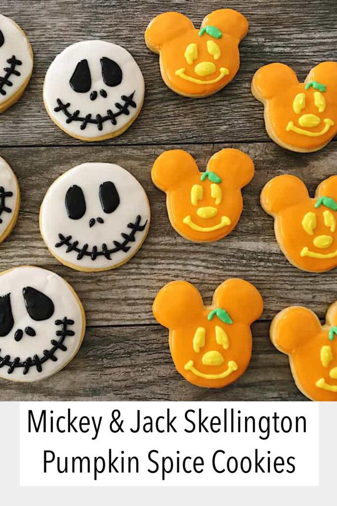 Mickey & Jack Skellington Pumkin Spice Sugar Cookies