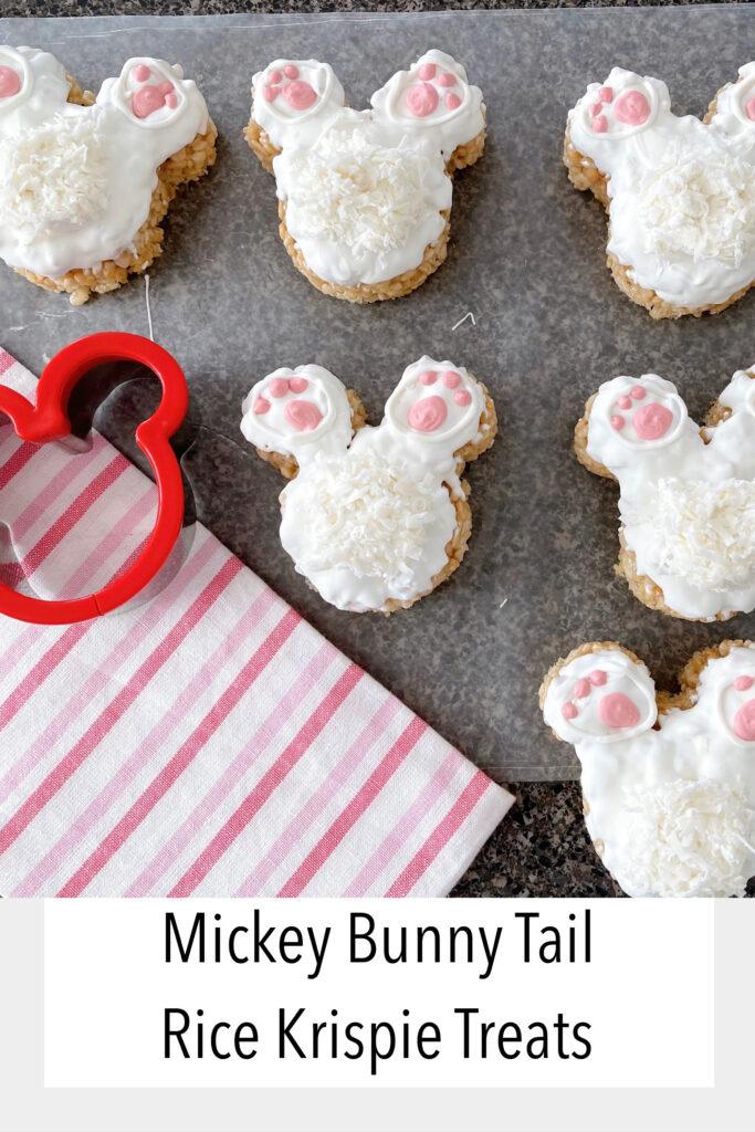 Mickey Bunny Tail Rice Krispie Treats