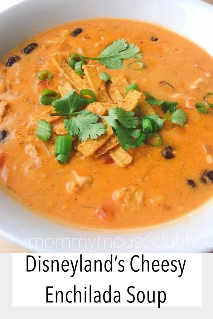 Disneyland's Cheesy Enchilada Soup