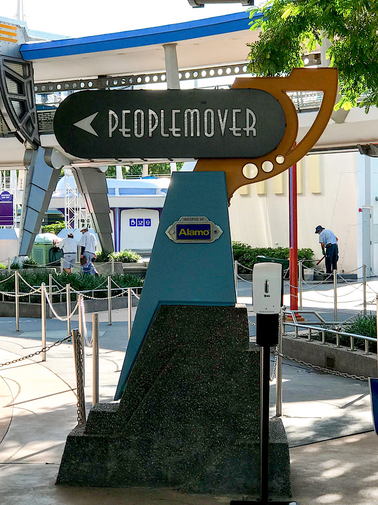 Entrance to the People Mover in Tomorrowland.