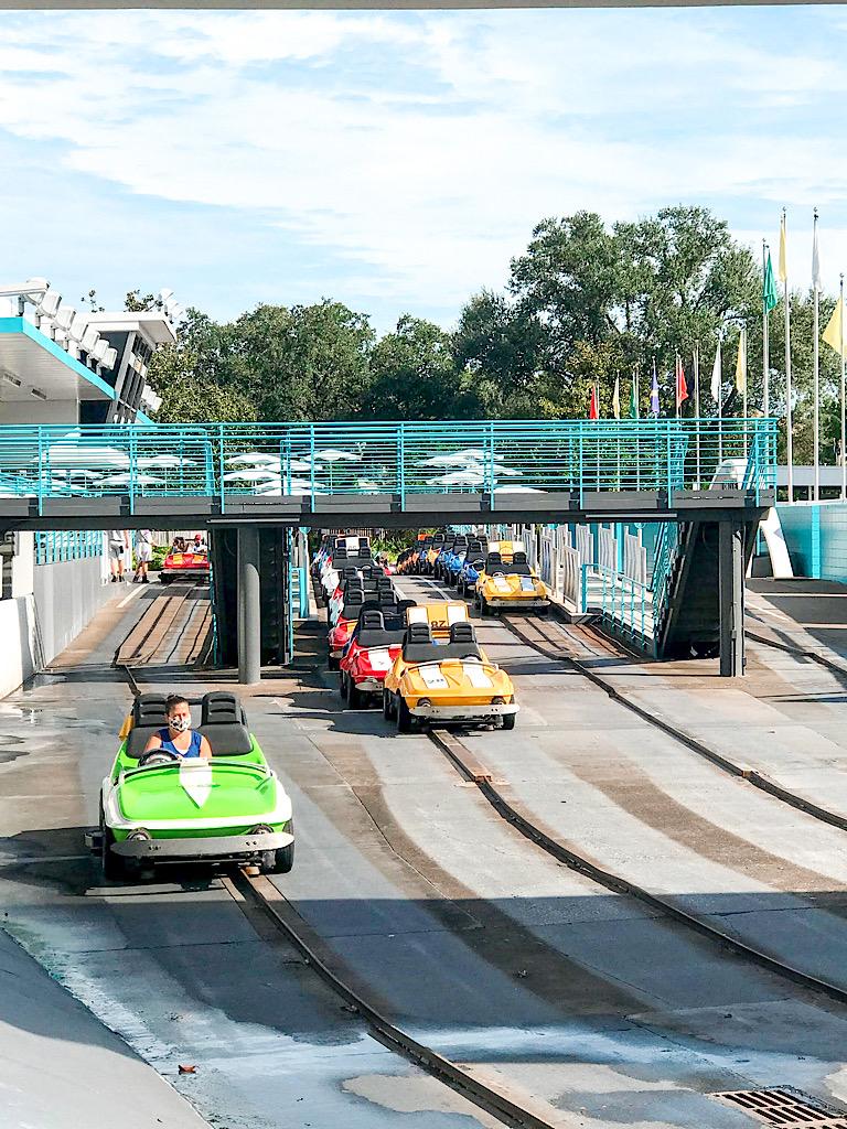 Tomorrowland Speedway at Disney World.
