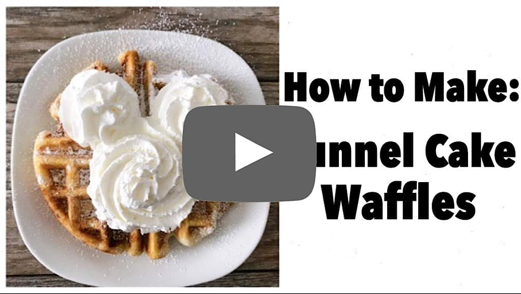 YouTube thumbnail image for How to Make Funnel Cake Waffles.