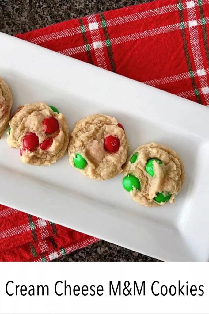 Cream Cheese M&M's Cookies