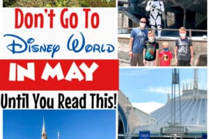 A collage of images at Disney World in May.