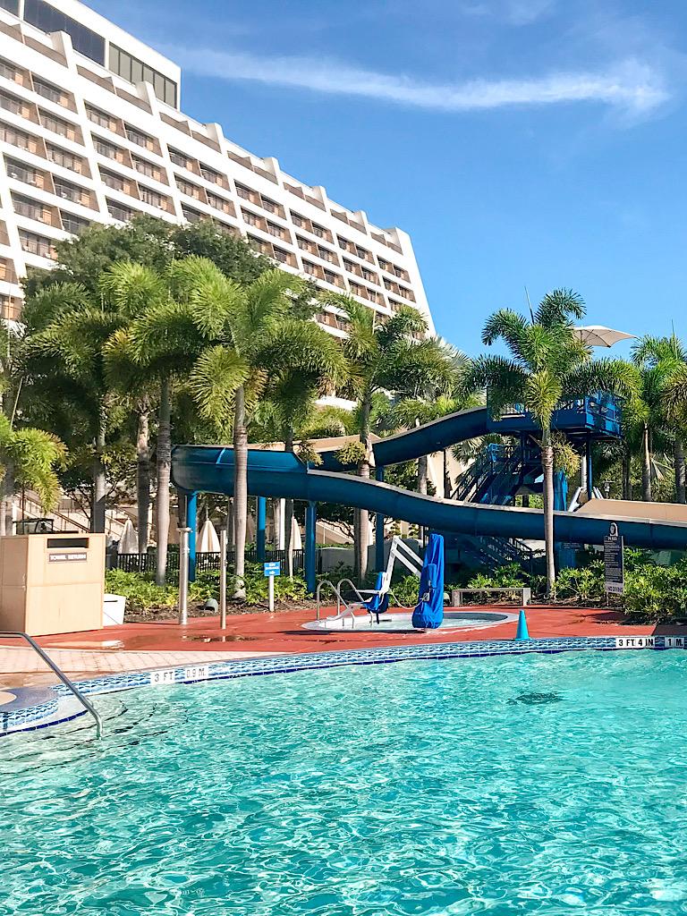Disney's Contemporary Resort pool area.