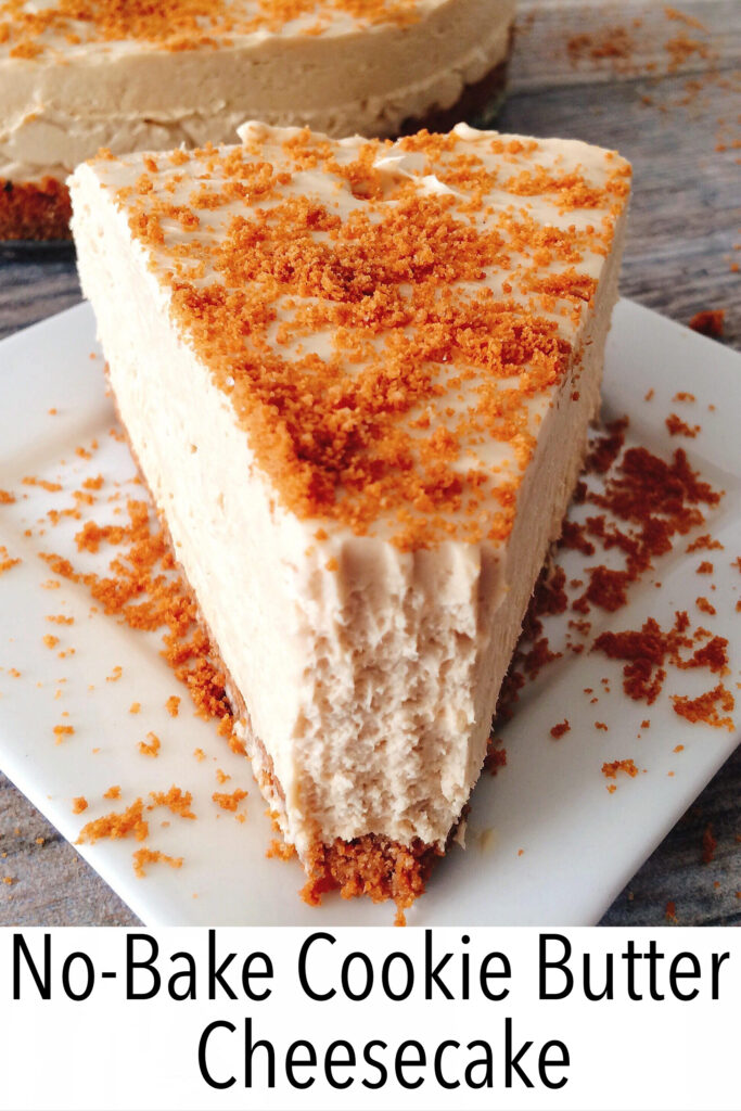No-Bake Cookie Butter Cheesecake