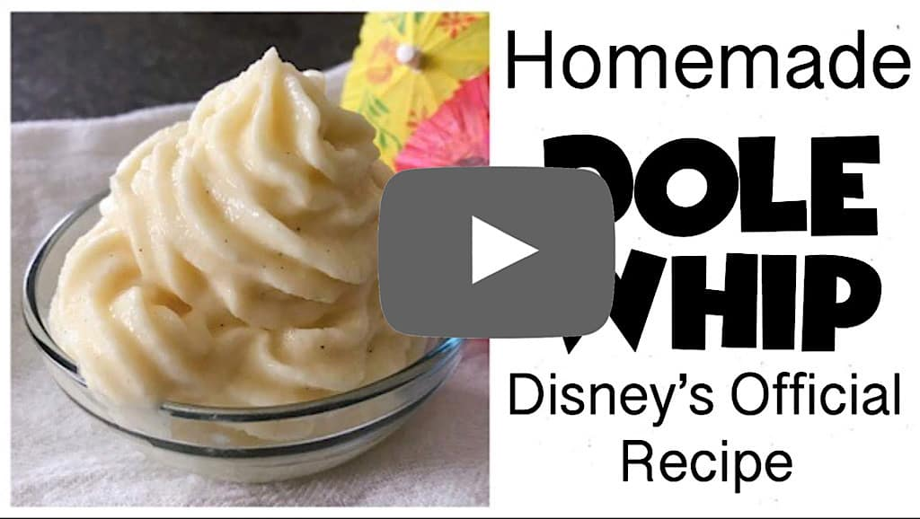 YouTube thumbnail image for Homemade Dole Whip Disney's Official Recipe.