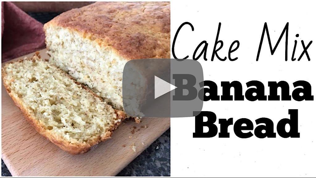 YouTube thumbnail image for Cake Mix Banana Bread.