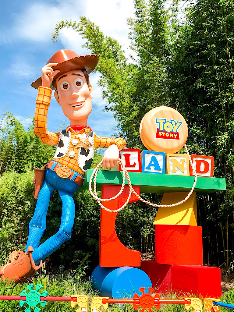 Entrance to Toy Story Land at Disney's Hollywood Studios.