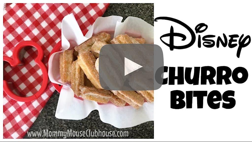 YouTube thumbnail image for Disney Churro Bites.
