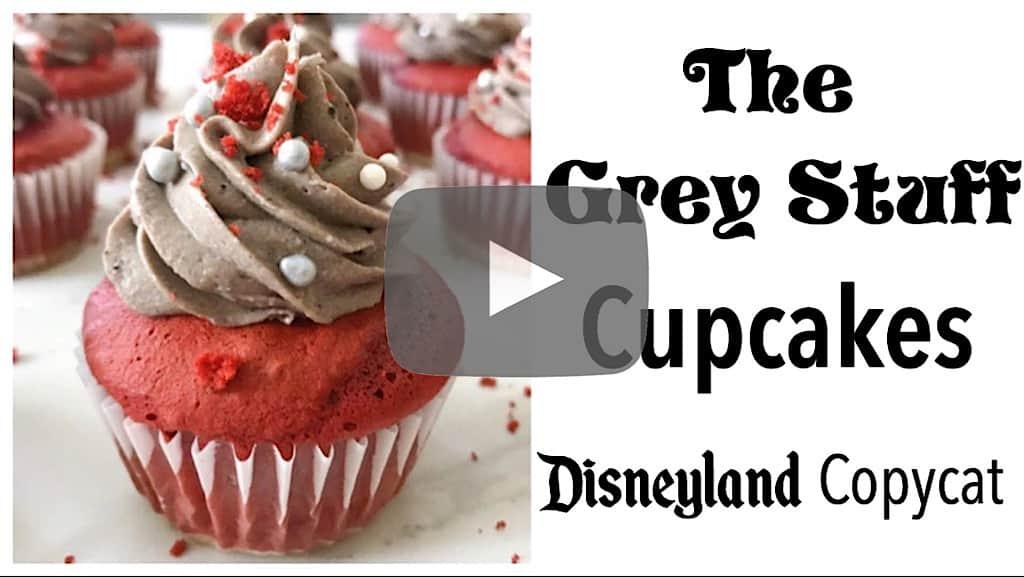 YouTube thumbnail for The Grey Stuff Cupcakes Disneyland Copycat
