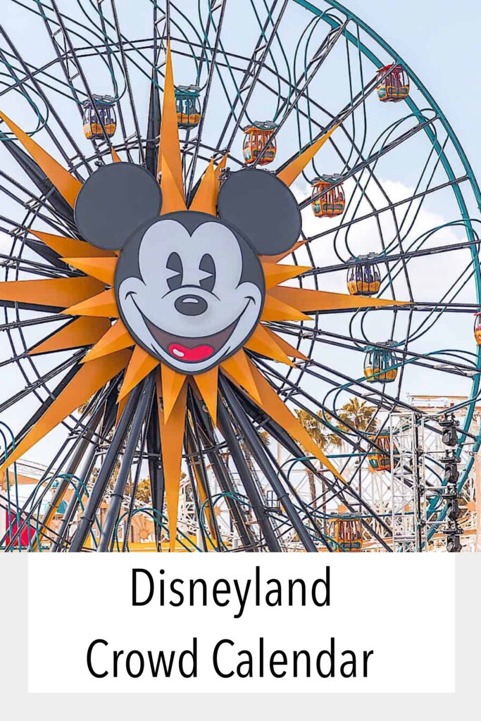 Disneyland Crowd Calendar