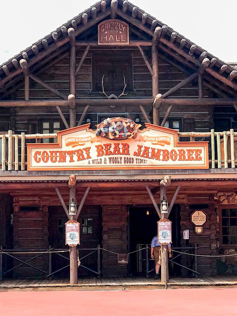 Entrance to Country Bear Jamboree at Disney World.
