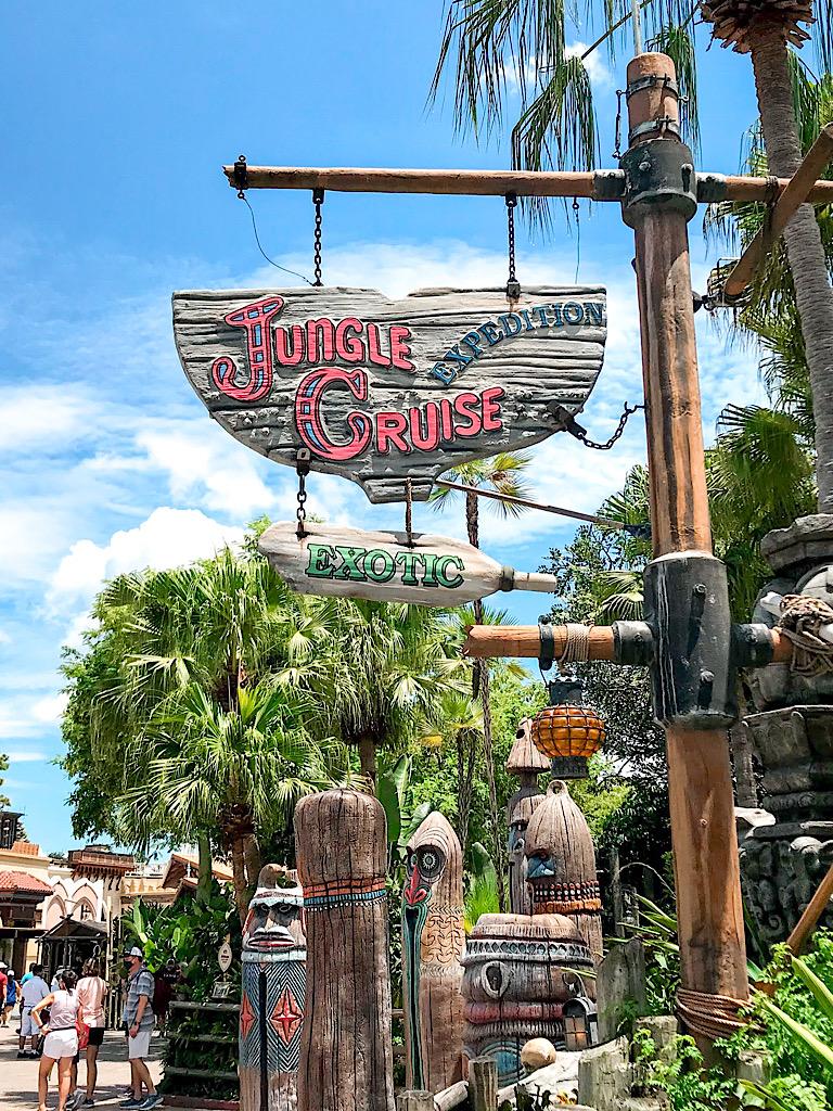 Entrance to Jungle Cruise at Magic Kingdom.