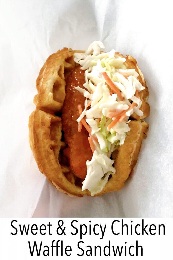 Sweet & Spicy Chicken Waffle Sandwich